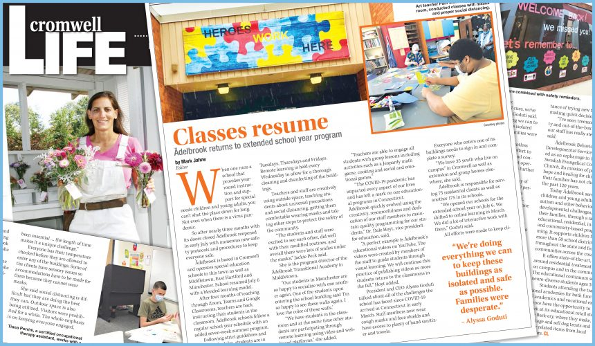 Via Cromwell Life: Ädelbrook Returns to Extended School Year Program